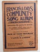 Francis & Days Community Song Album 1930s sing a long music book Hearts of Oak